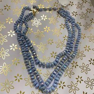 Vintage glass 3 strand necklace